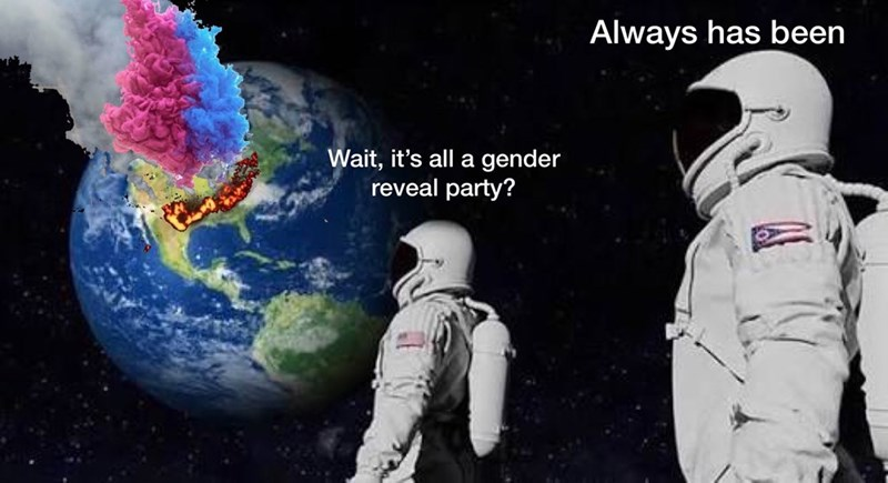 Astronaut - Always has been Wait, it's all a gender reveal party?