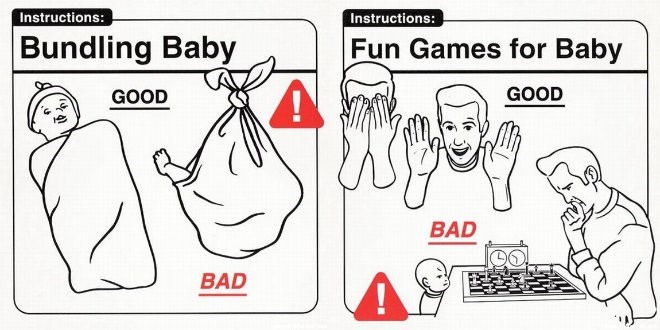 Cartoon - Instructions: Instructions: Bundling Baby Fun Games for Baby GOOD GOOD BAD BAD