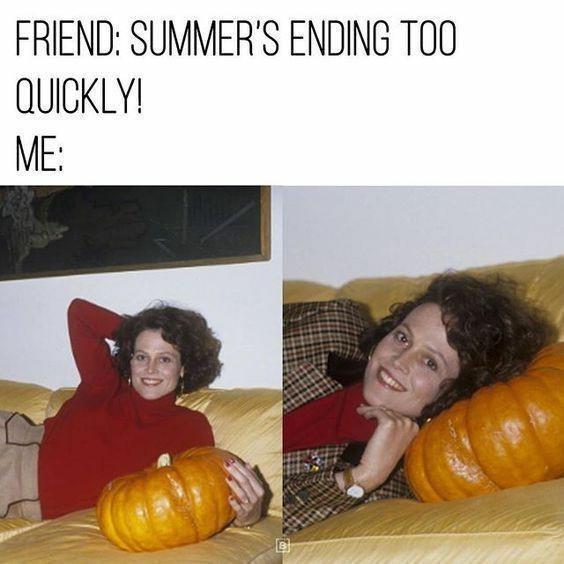 Pumpkin - FRIEND: SUMMER'S ENDING TOO QUICKLY! ME: