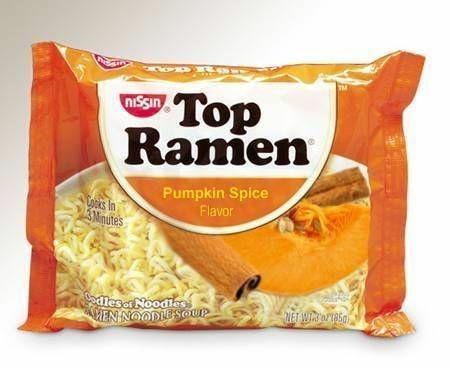 Food - Top Ramen niSsın Pumpkin Spice Flavor Loks In Mnutes dleser Noodies MEN NOODIESOUP