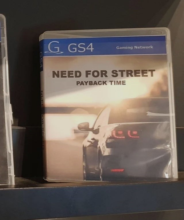 Product - G GS4 Gaming Network NEED FOR STREET PAYBACK TIME NGP E