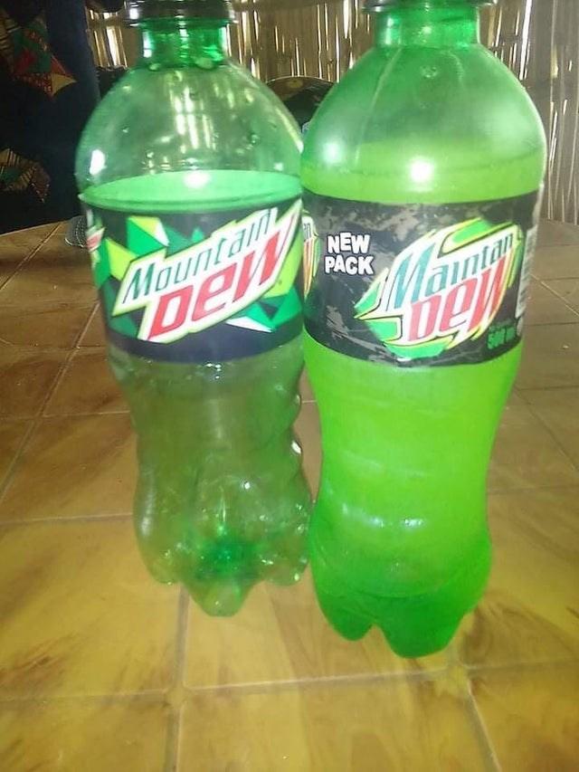Plastic bottle - Mountam Dew NEW PACK aintan