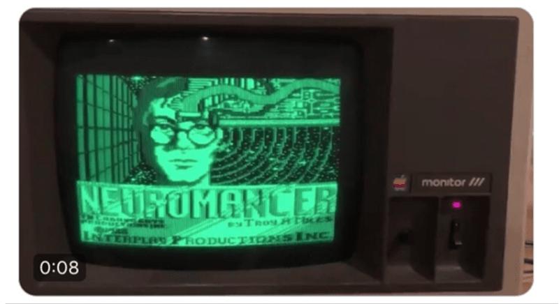 Screen - monitor /// NEUROMANCER TROMH ThES INTERPLAY PHODUCTIONsINC 0:08