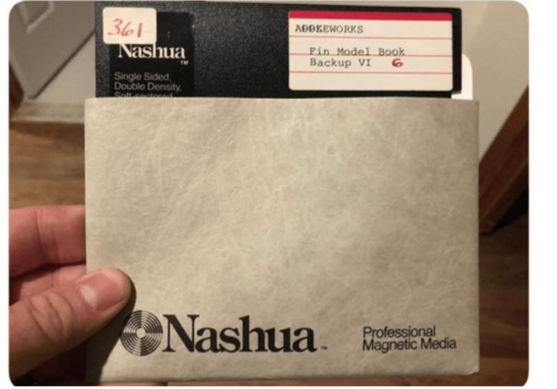 Text - 361 Nashua ADDEEWORKS Fin Model Book Backup VI 6. TM Single Sided, Double Density. Solt seatored Nashua Professional Magnetic Media