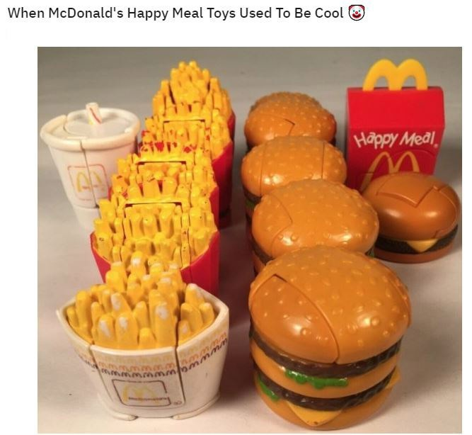 Food - When McDonald's Happy Meal Toys Used To Be Cool Happy Meal