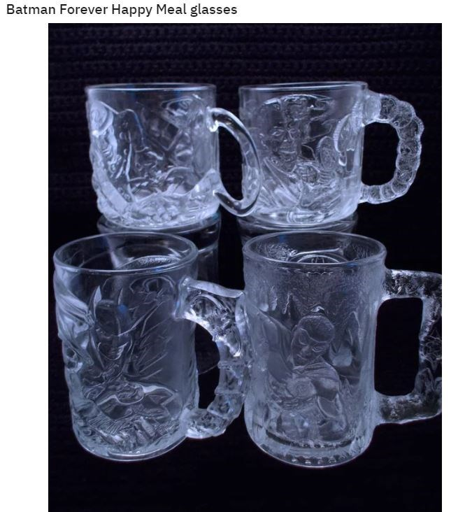 Drinkware - Batman Forever Happy Meal glasses