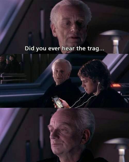 Photo caption - Did you ever hear the trag..