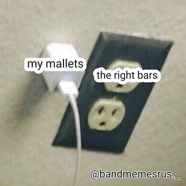Power plugs and sockets - my mallets the right bars @bandmemesrus.