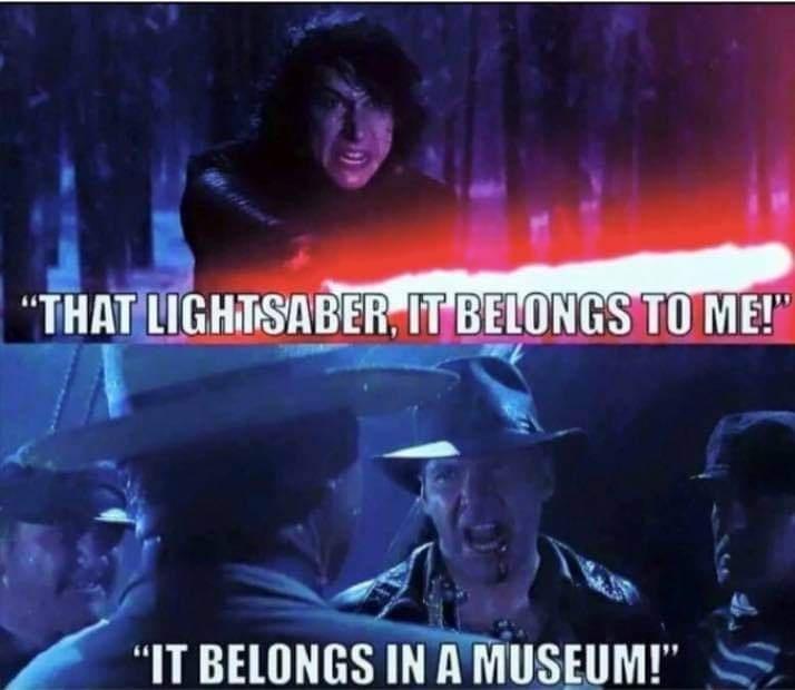 """Movie - """"THAT LIGHTSABER, IT BELONGS TO ME! """"IT BELONGS IN A MUSEUM!"""""""