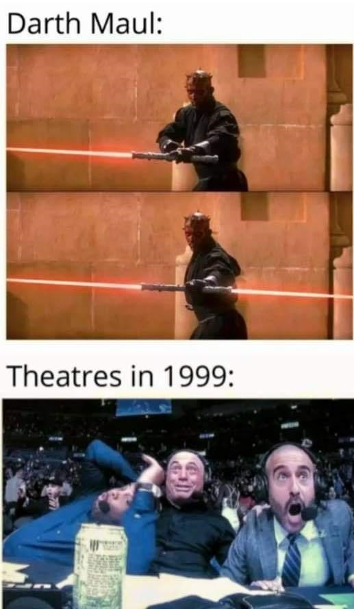 Photography - Darth Maul: Theatres in 1999: