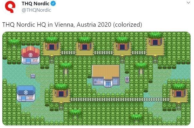 Green - THQ Nordic O @THQNordic THQ Nordic HQ in Vienna, Austria 2020 (colorized)