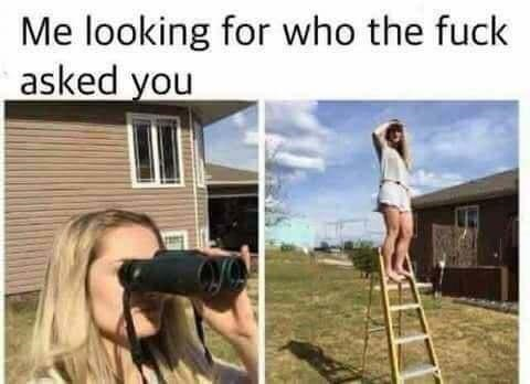 Camera - Me looking for who the fuck asked you