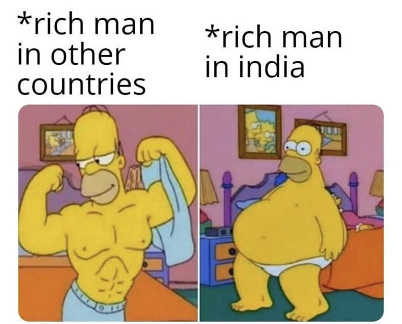 Cartoon - *rich man in other countries *rich man in india