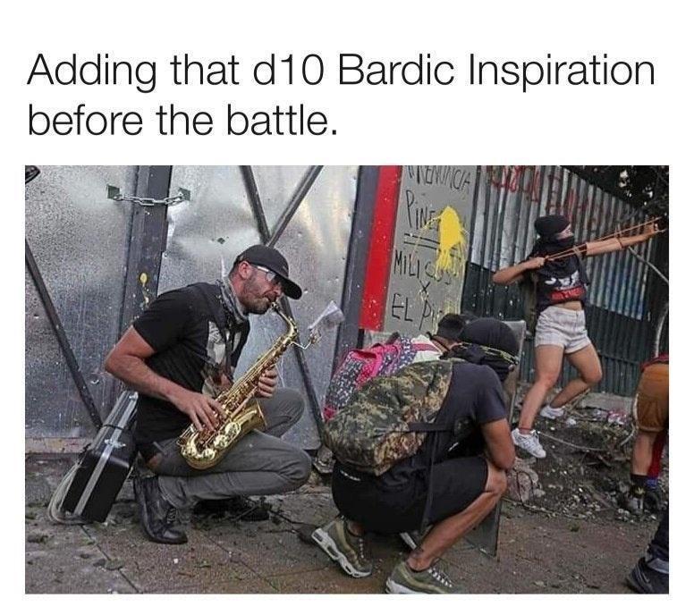 Adaptation - Adding that d10 Bardic Inspiration before the battle. MILIC EL