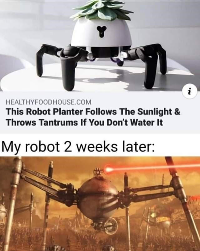 Radio-controlled helicopter - i HEALTHYFOODHOUSE.COM This Robot Planter Follows The Sunlight & Throws Tantrums If You Don't Water It My robot 2 weeks later: