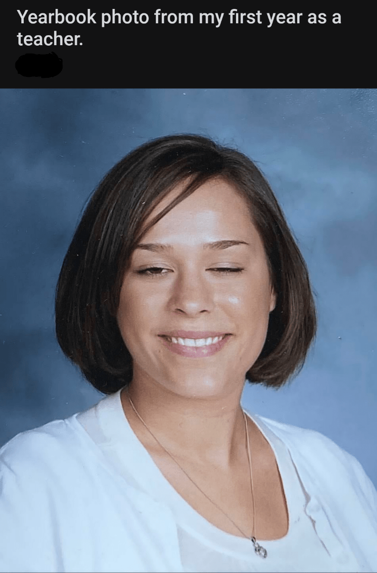 Face - Yearbook photo from my first year as a teacher.