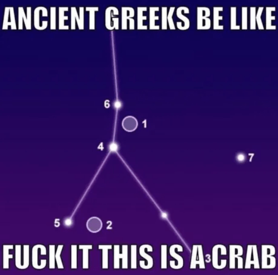 Line - ANCIENT GREEKS BE LIKE 1 4 7 5 2 FUCK IT THIS IS A-CRAB