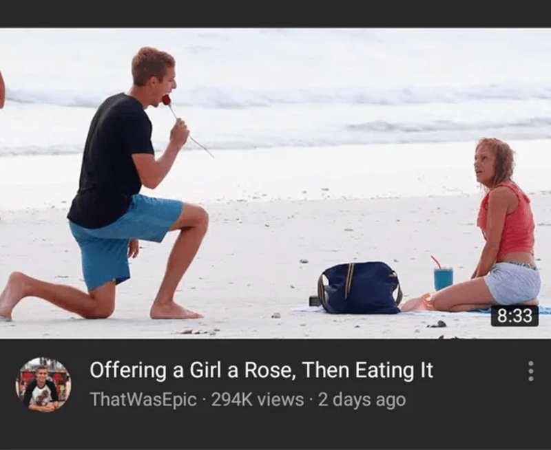 Sitting - 8:33 Offering a Girl a Rose, Then Eating It ThatWasEpic · 294K views · 2 days ago