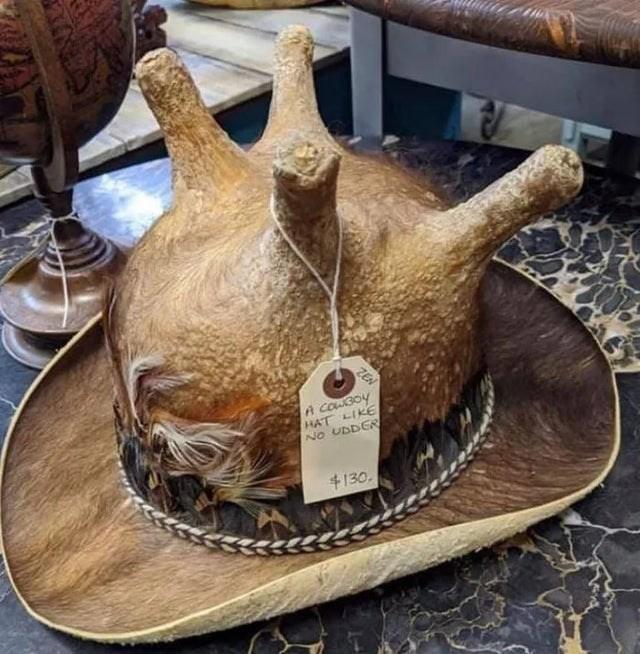 Food - ZEN A COWBoy HAT LIKE NO UDDER +130,