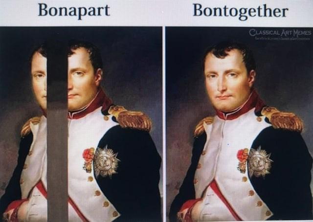 Album cover - Bonapart Bontogether CLASSICAL ART MEMES
