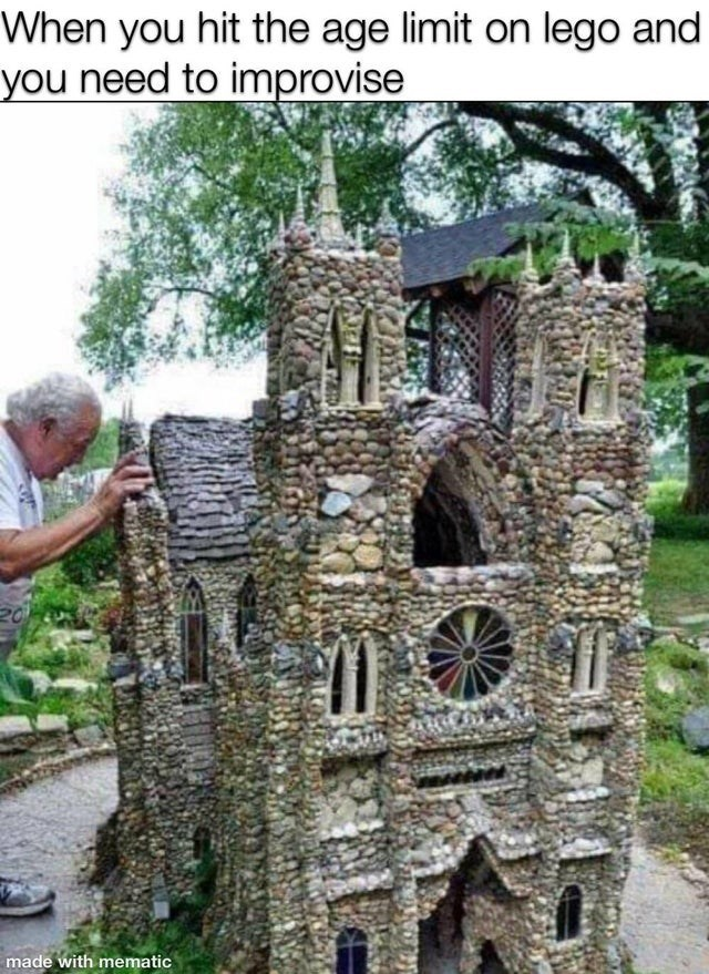 Medieval architecture - When you hit the age limit on lego and you need to improvise made with mematic