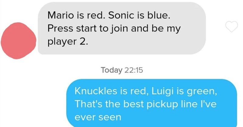 A collection of witty Tinder pickup lines that nailed it.