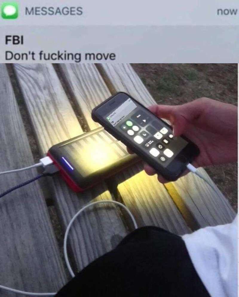 Gadget - MESSAGES now FBI Don't fucking move