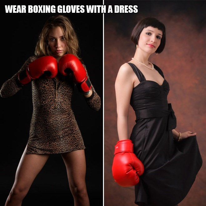 Clothing - WEAR BOXING GLOVES WITH A DRESS