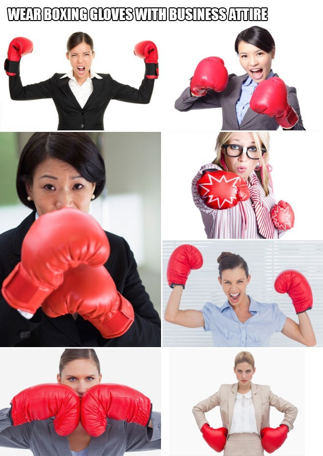 Boxing glove - WEAR BOXING GLOVES WITH BUSINESS ATTIRE