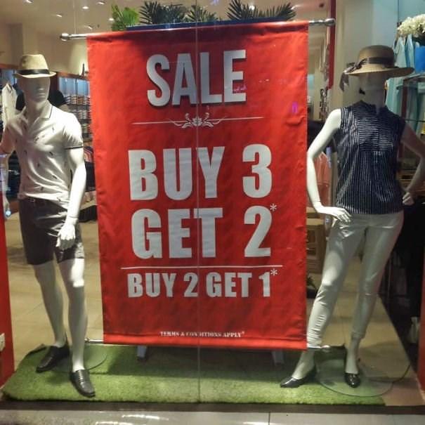 Advertising - SALE BUY 3 GET 2 BUY 2 GET 1 TERHNA CON HTIONS APPLY