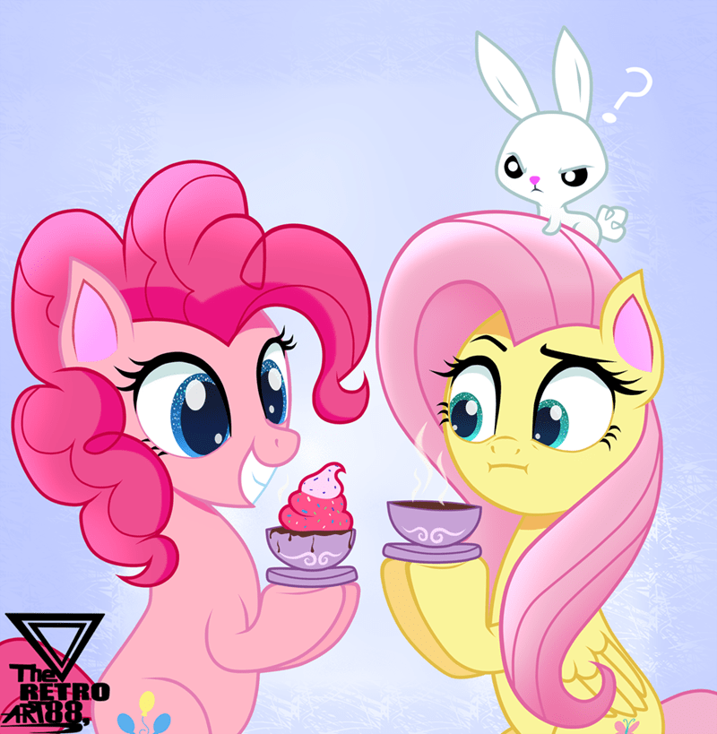 angel theretroart88 pinkie pie fluttershy - 9557341696