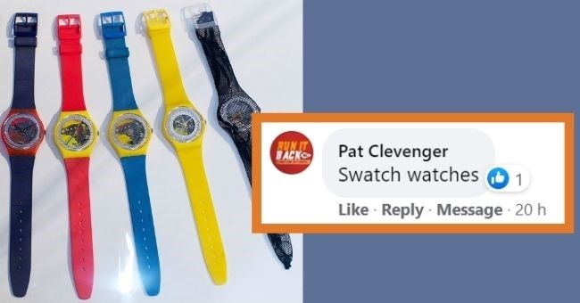 Toothbrush - BUN IT BACK Pat Clevenger Swatch watches O 1 Like · Reply Message 20 h -----.--
