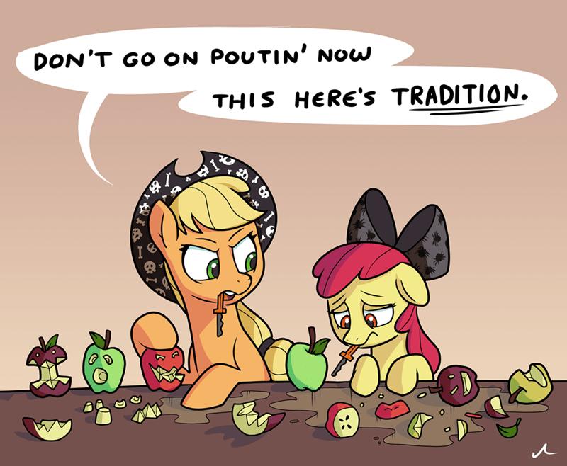 applejack halloween apple bloom doc wario - 9558328320