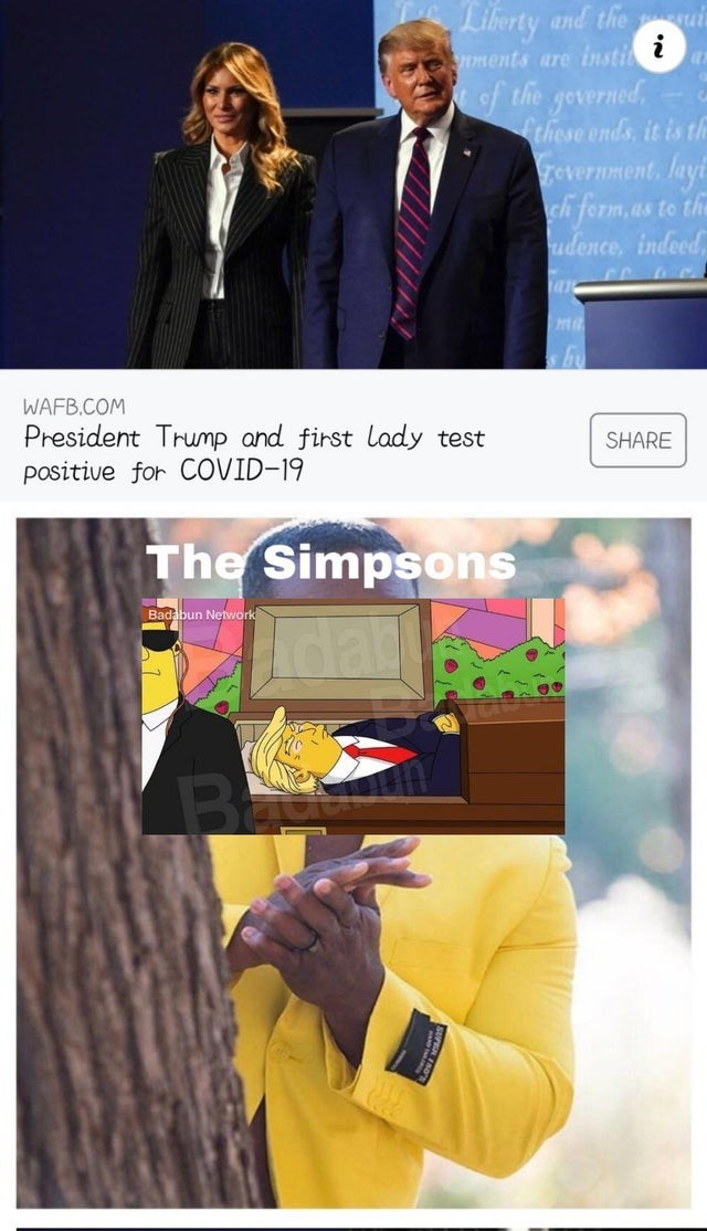 Product - Liberty and the i nments are insti of the geverned, Cthese ends, it is th Frovernment, layt ch ferm, as te the udence, indeed, ma by WAFB.COM President Trump and first lady test positive for COVID-19 SHARE The Simpsons Badabun Network dat Ba