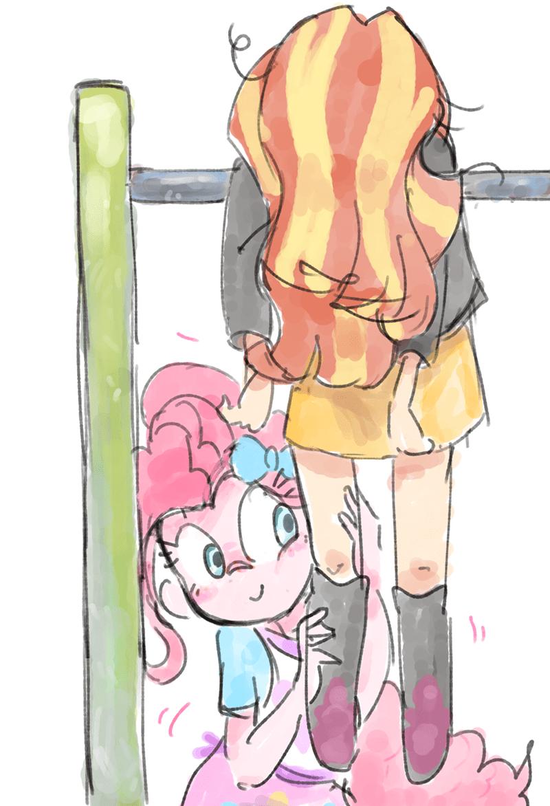 equestria girls pinkie pie nendo sunset shimmer - 9558573312
