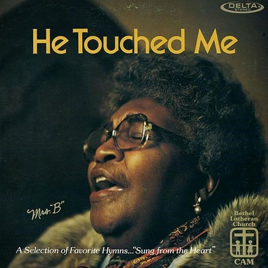 """Album cover - DELTA STEREO He Touched Me Mrs:B"""" Bethel Lutheran Church A Selection of Favorite Hymns.""""Sung from the Heart"""" II.j CAM"""