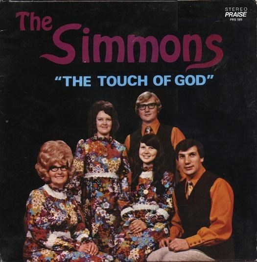 """Album cover - STEREO PRAISE The PRS 189 Simmons """"THE TOUCH OF GOD"""""""