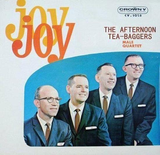 Album cover - CROWN v JOV CV.1058 THE AFTERNOON TEA-BAGGERS MALE QUARTET