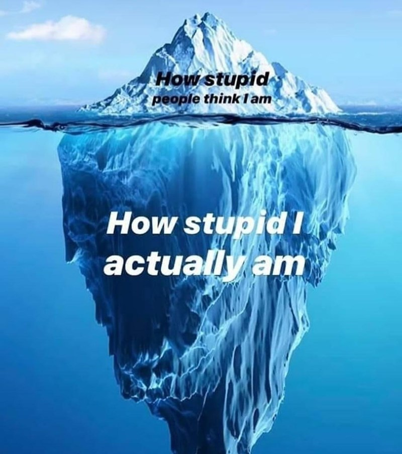 Iceberg - How stupid people think lam How stupidI actually am