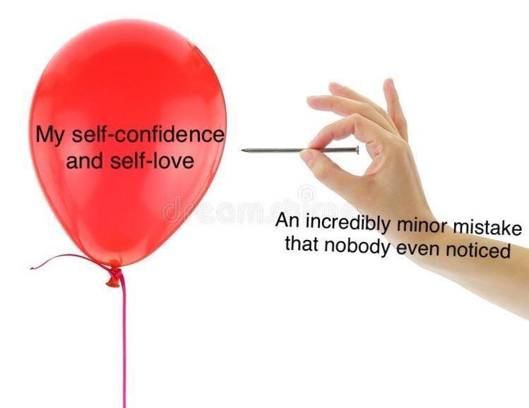 Balloon - My self-confidence and self-love dreamo An incredibly minor mistake that nobody even noticed