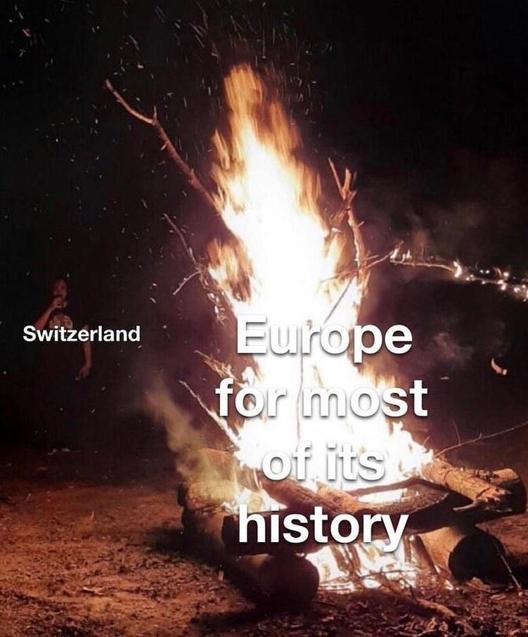 Heat - Europe for most of its history Switzerland