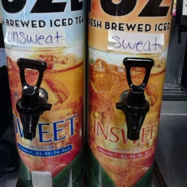 Drink - BREWED ICED TEA RESH BREWED ICED Unsweat Sweat EET infused with VITAMINS CB3: 85 Bo:81 dnfoted with NC:B3 : BS: B6: B12
