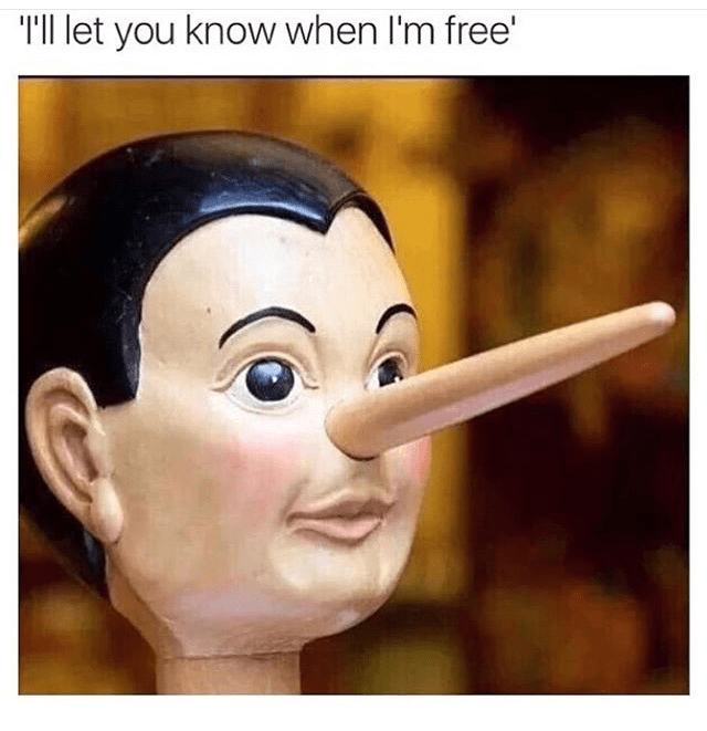 Face - TIl let you know when l'm free'