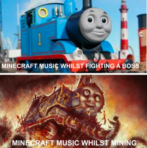 Thomas the tank engine - MINECRAFT MUSIÇ WHILST FIGHTING A BOSS MINECRAFT MUSIC WHILST MINING
