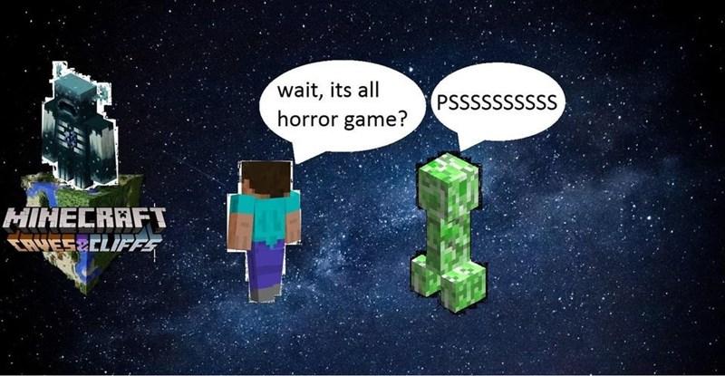 Text - wait, its all horror game? PSSSSSSSSSS MINECRAFT CRUESECLIFFE