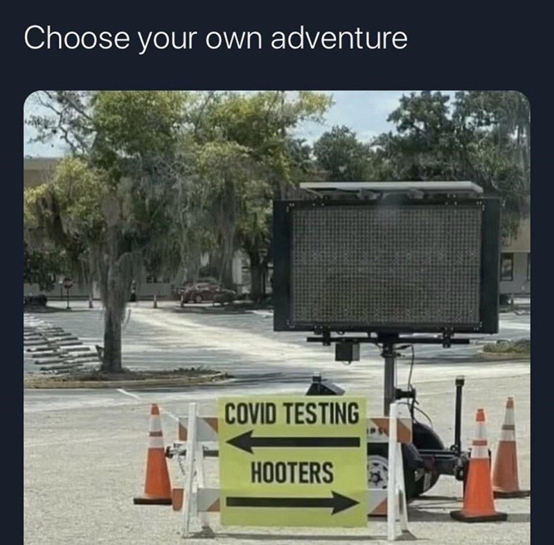 Transport - Choose your own adventure COVID TESTING HOOTERS