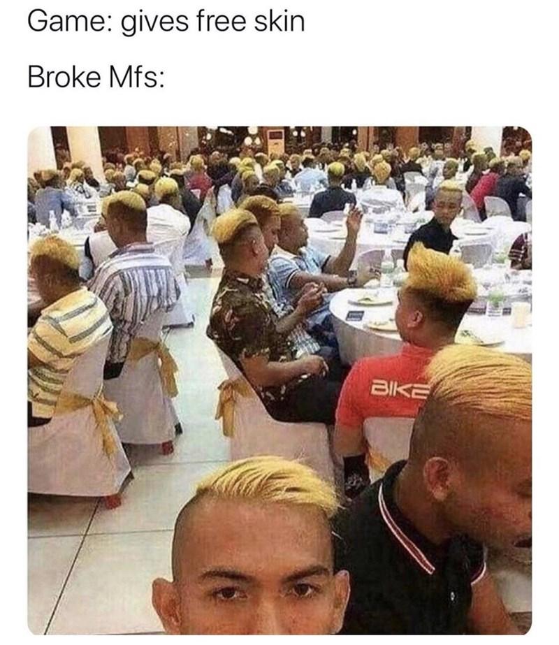 People - Game: gives free skin Broke Mfs: BIKE