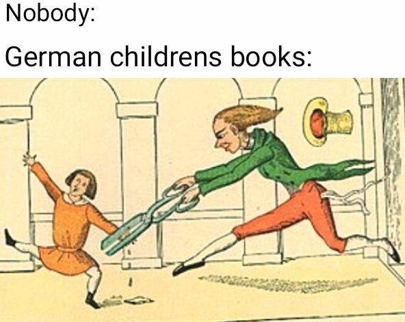 Cartoon - Nobody: German childrens books: