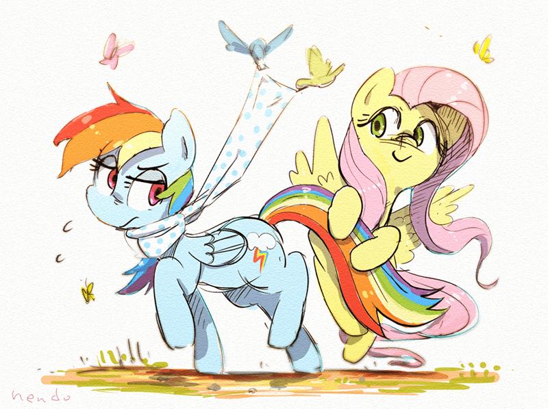 nendo fluttershy rainbow dash - 9560759552