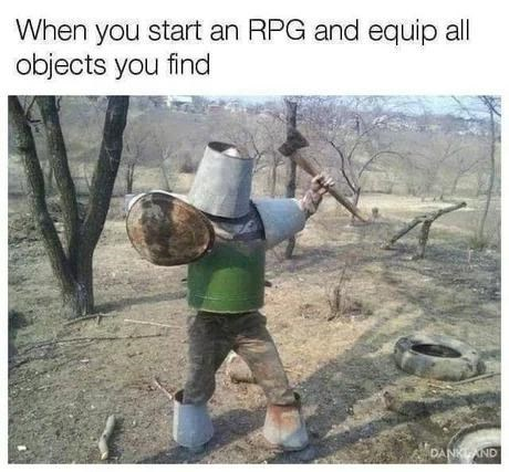 Tree - When you start an RPG and equip all objects you find DANKAND